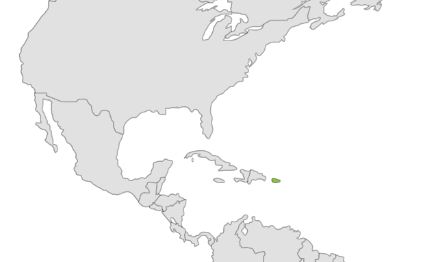 Puerto Rican Crested Toad location map