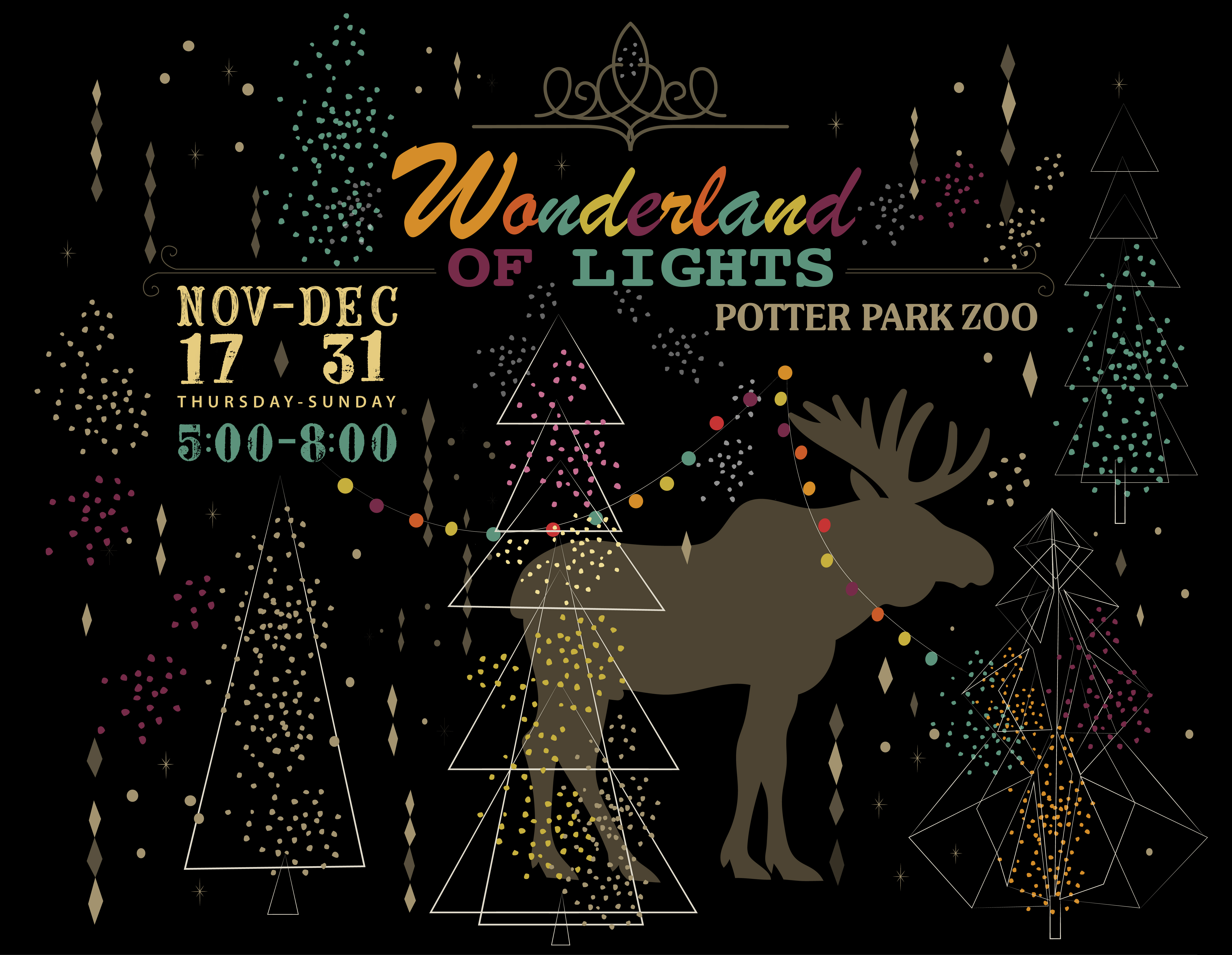 thousands of lights create extraordinary animal exhibits and holiday displays at the 23rd annual wonderland of lights there will be cookies - Giant Eagle Christmas Hours