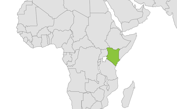 Eastern Bongo location map