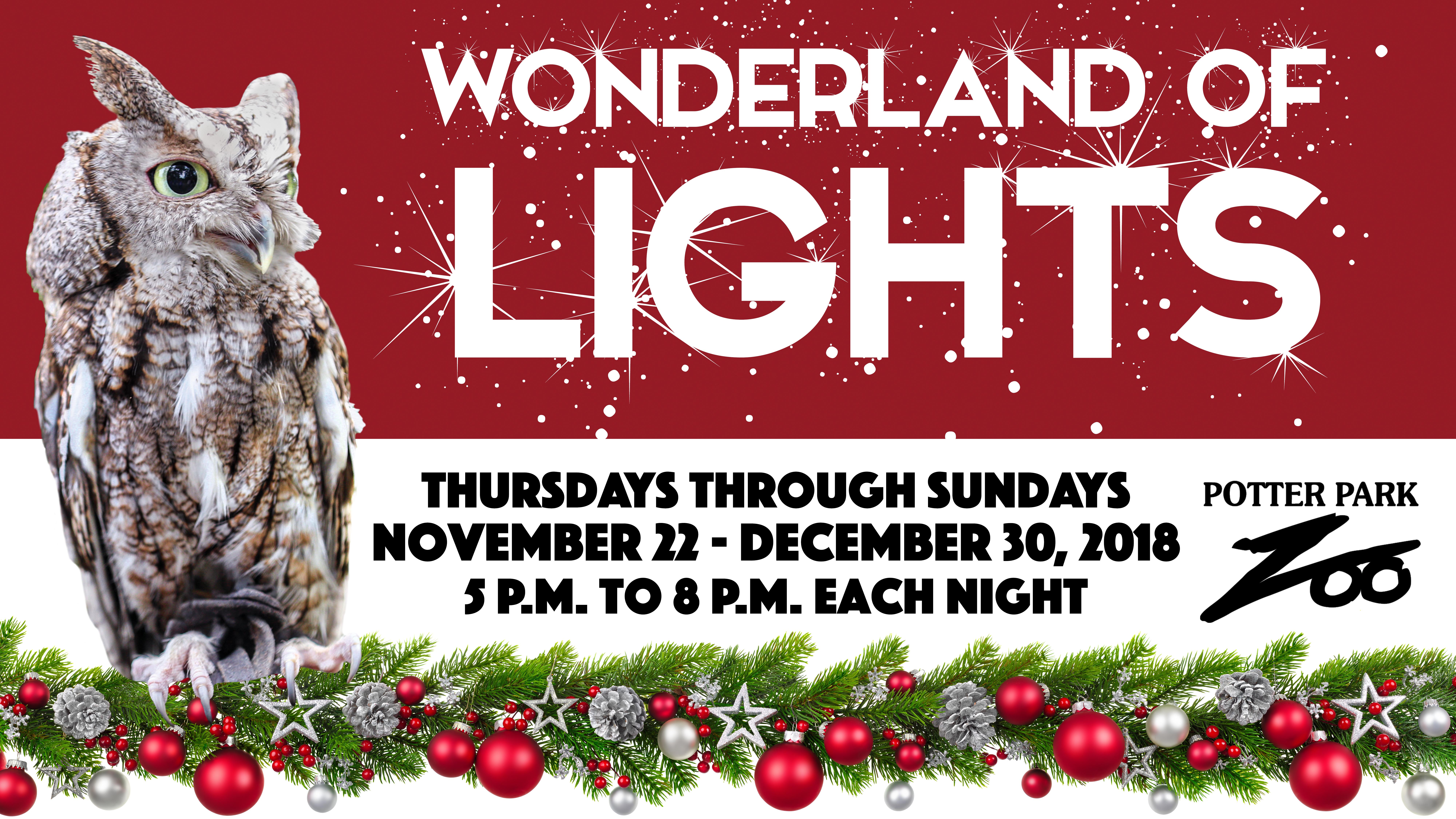 Wonderland of Lights banner