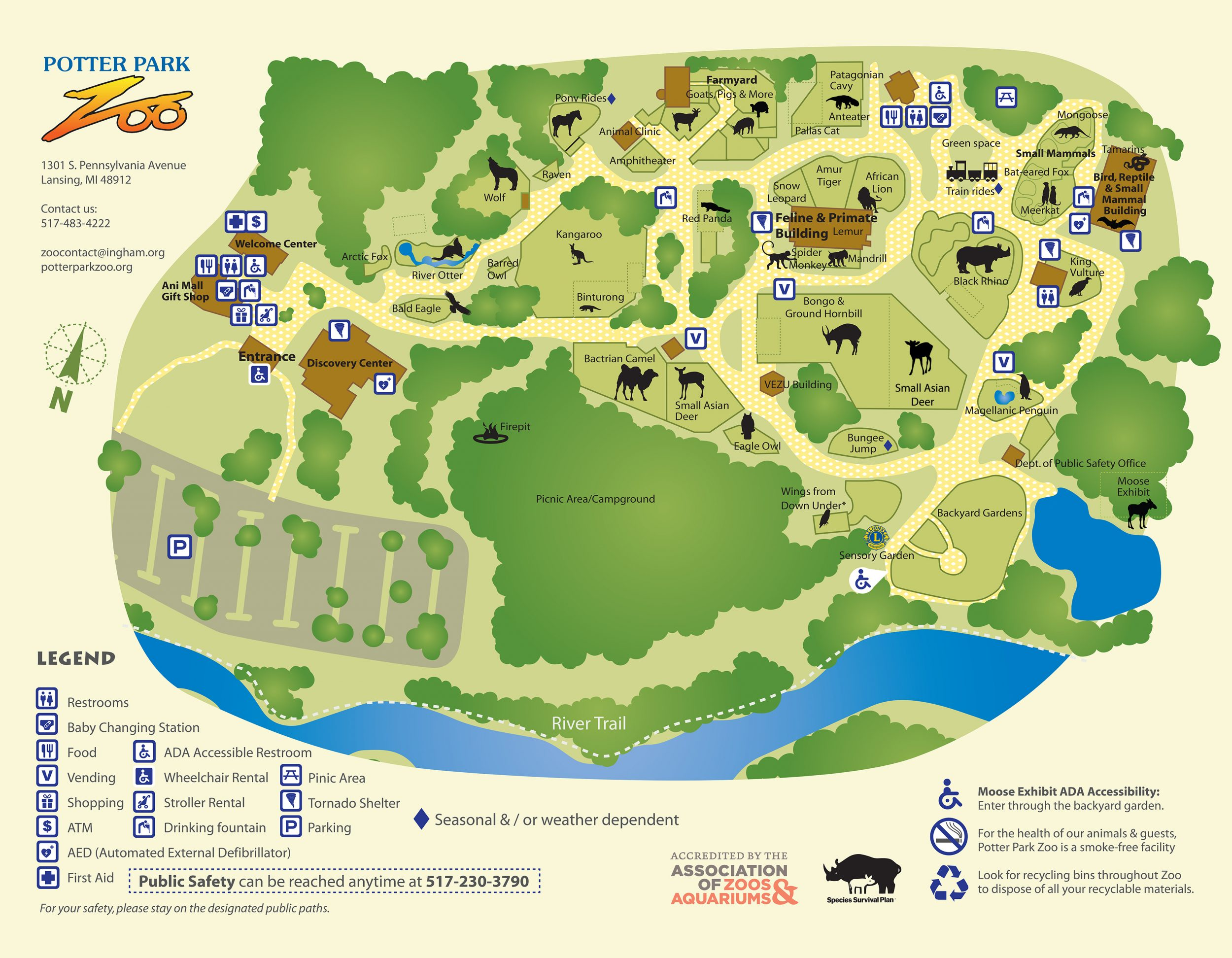 Zoo Map | Potter Park Zoo