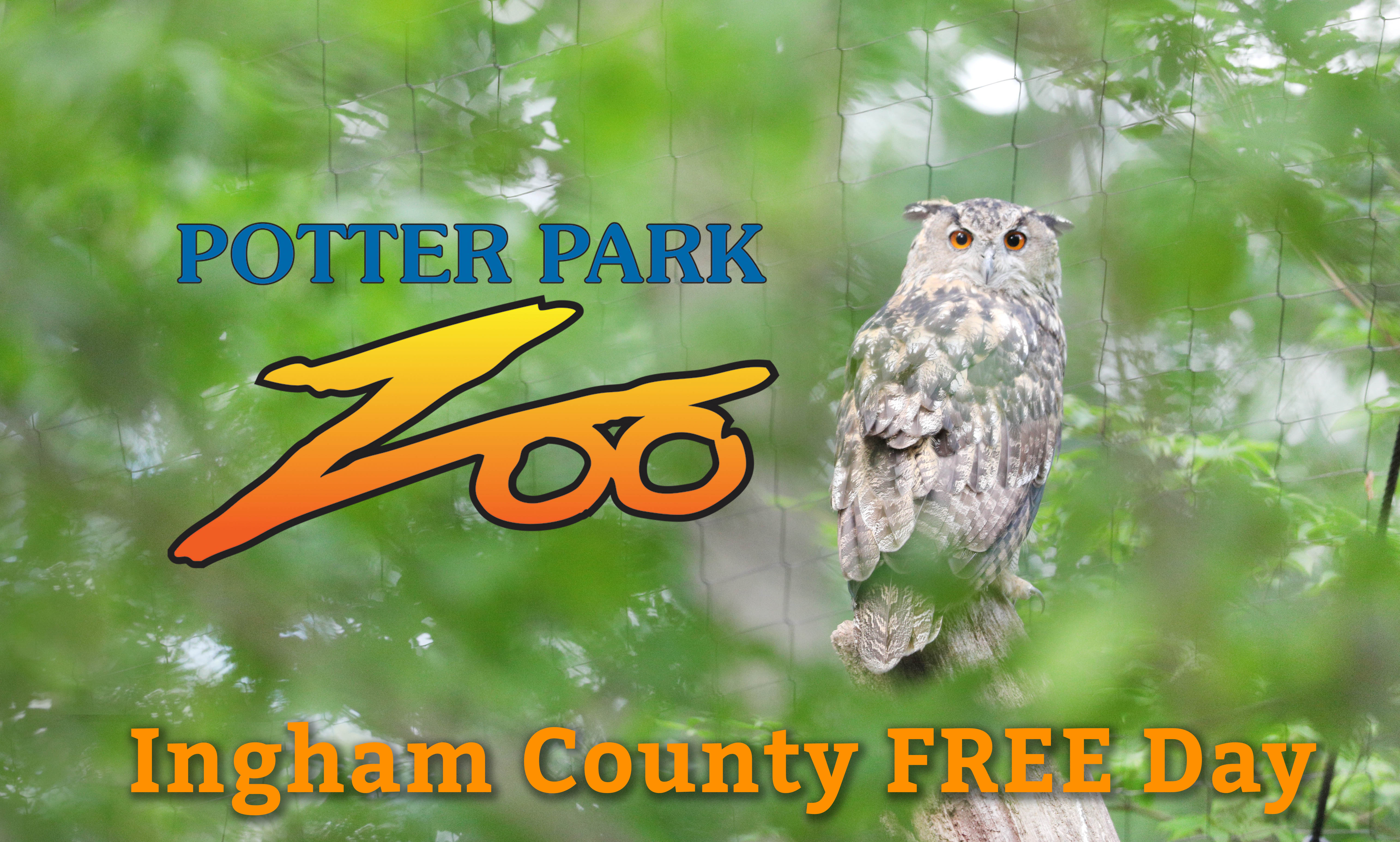 Potter Park Zoo Ingham County FREE Day banner