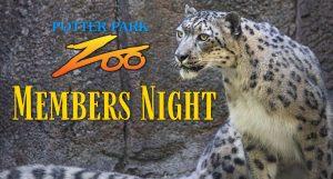 Potter Park Zoo Membership Night banner