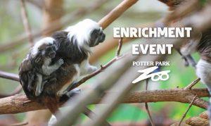 Enrichment Event - Potter Park Zoo banner